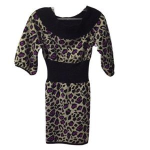 Marciano Girls Purple Cheetah Print Dress